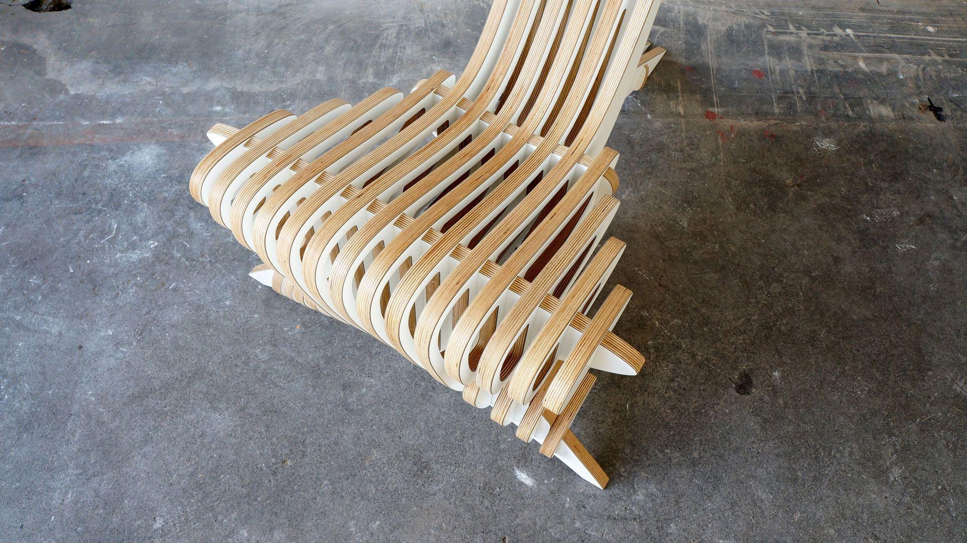 Peak Lounge Chair Интерьер, Фанера и Мебель