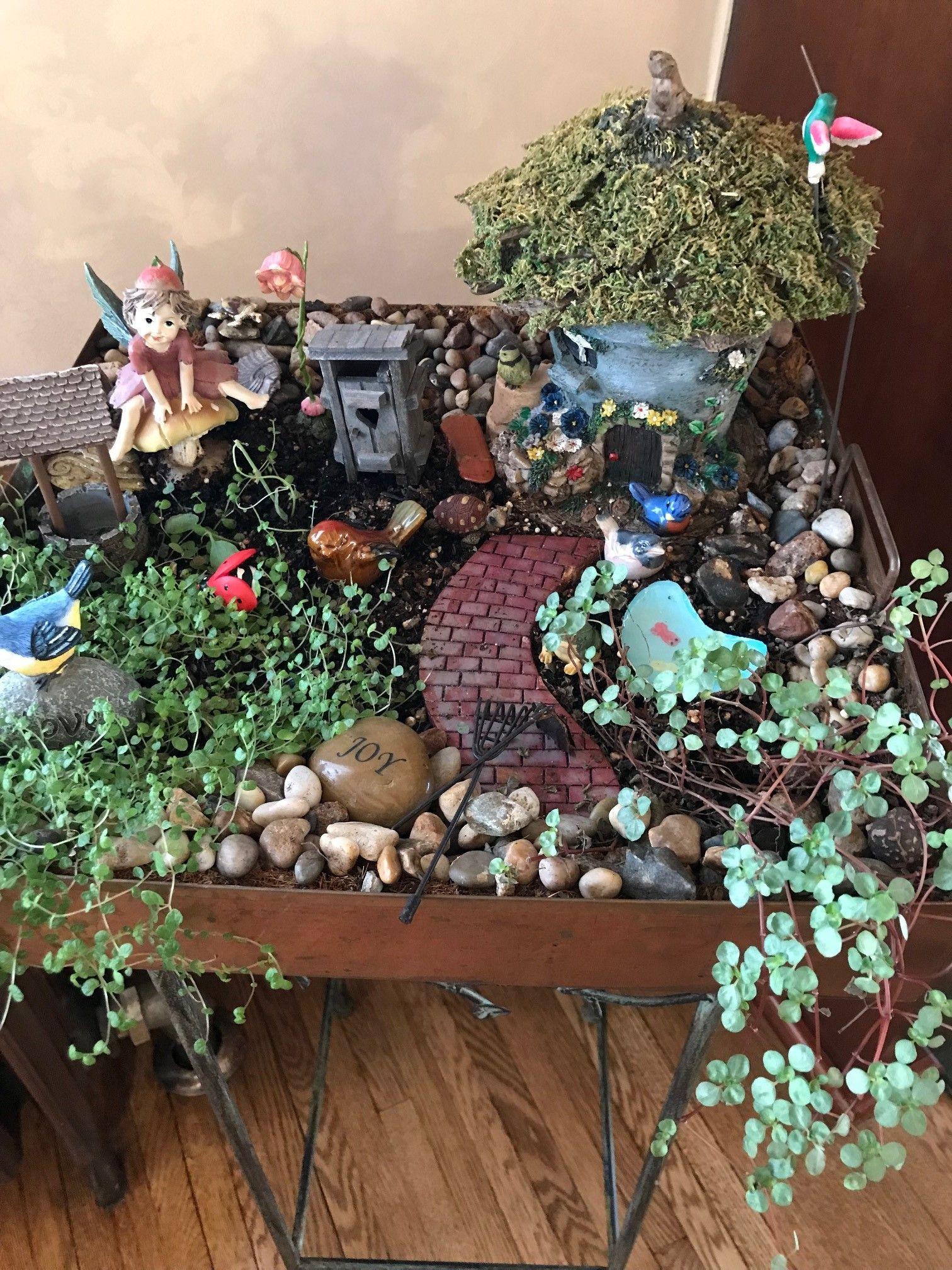 A Firelight Inn fairy garden! fairygarden garden