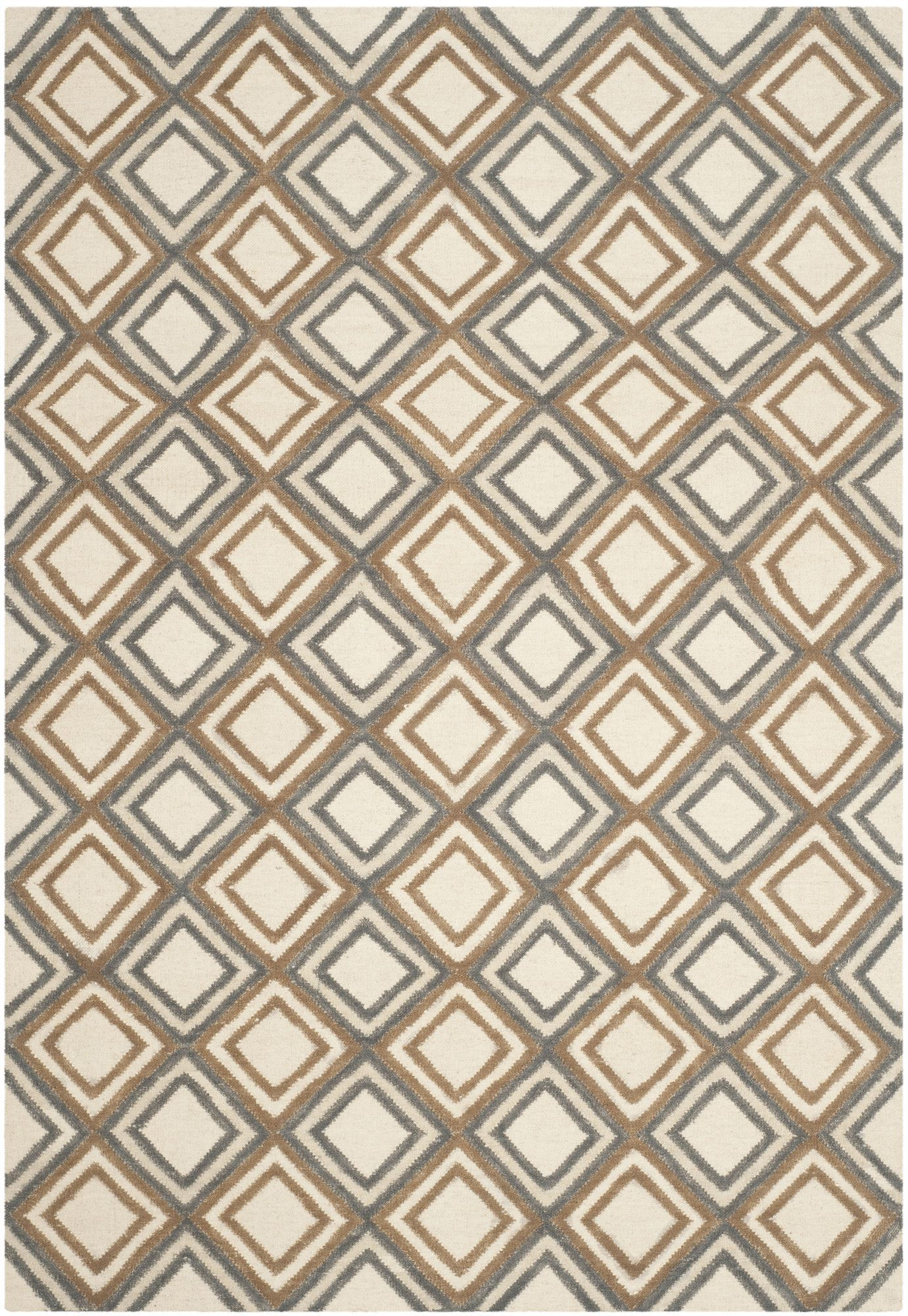 Dhurries Ivory / Blue Area Rug