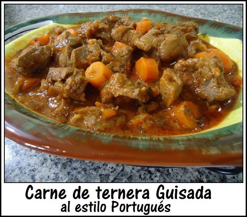 Carne de res Guisada al estilo portugués, receta fácil y saludable.