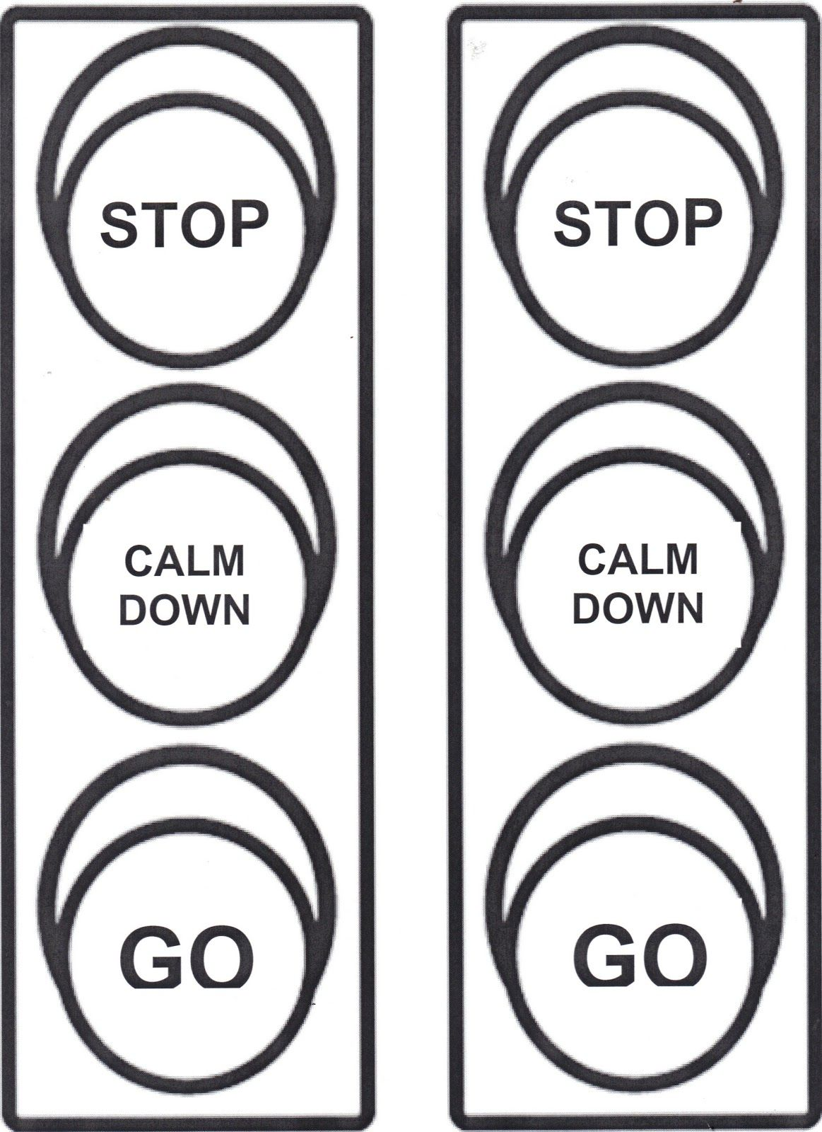 Anger Control Stoplight