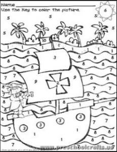 Columbus Day Coloring Pages For Kids Preschool And Kindergarten