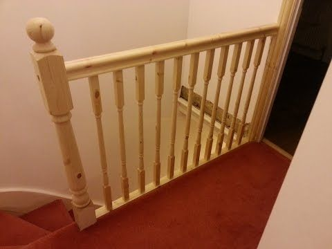 How to replace banister, newel post handrail and spindles ...