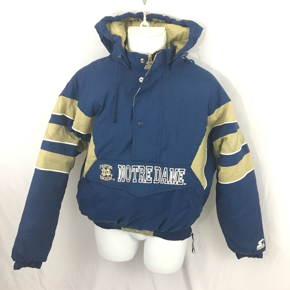 Details about Notre Dame Hooded Jacket by Gear for Sports