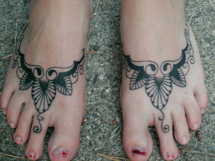 tribal foot tattoos for women henna foot tattoos for women | Henna ...