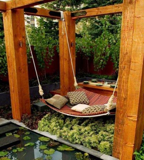 gartenschaukel selber bauen - wunderschöne ideen und tipps für sie, Terrassen ideen