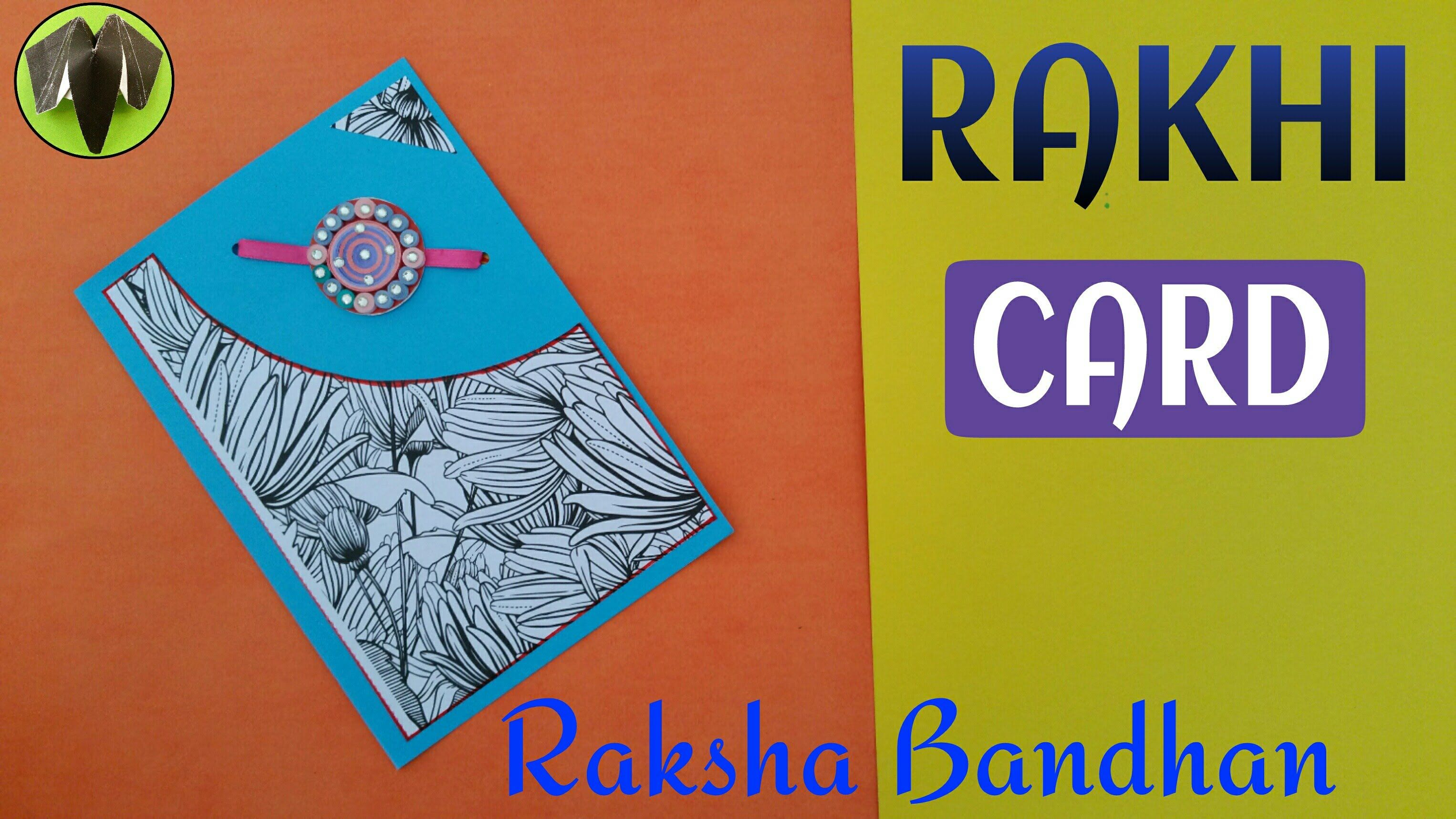 Tutorial To Make An Easy Rakhi Card Greetings Card For Raksha