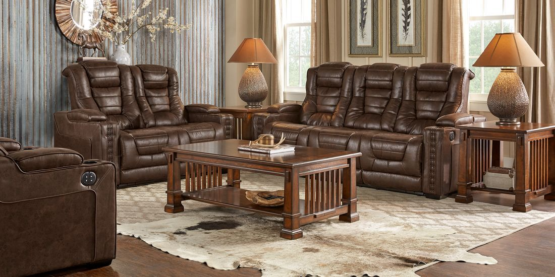 Eric Church Highway To Home Chief Brown 3 Pc Living Room With Dual