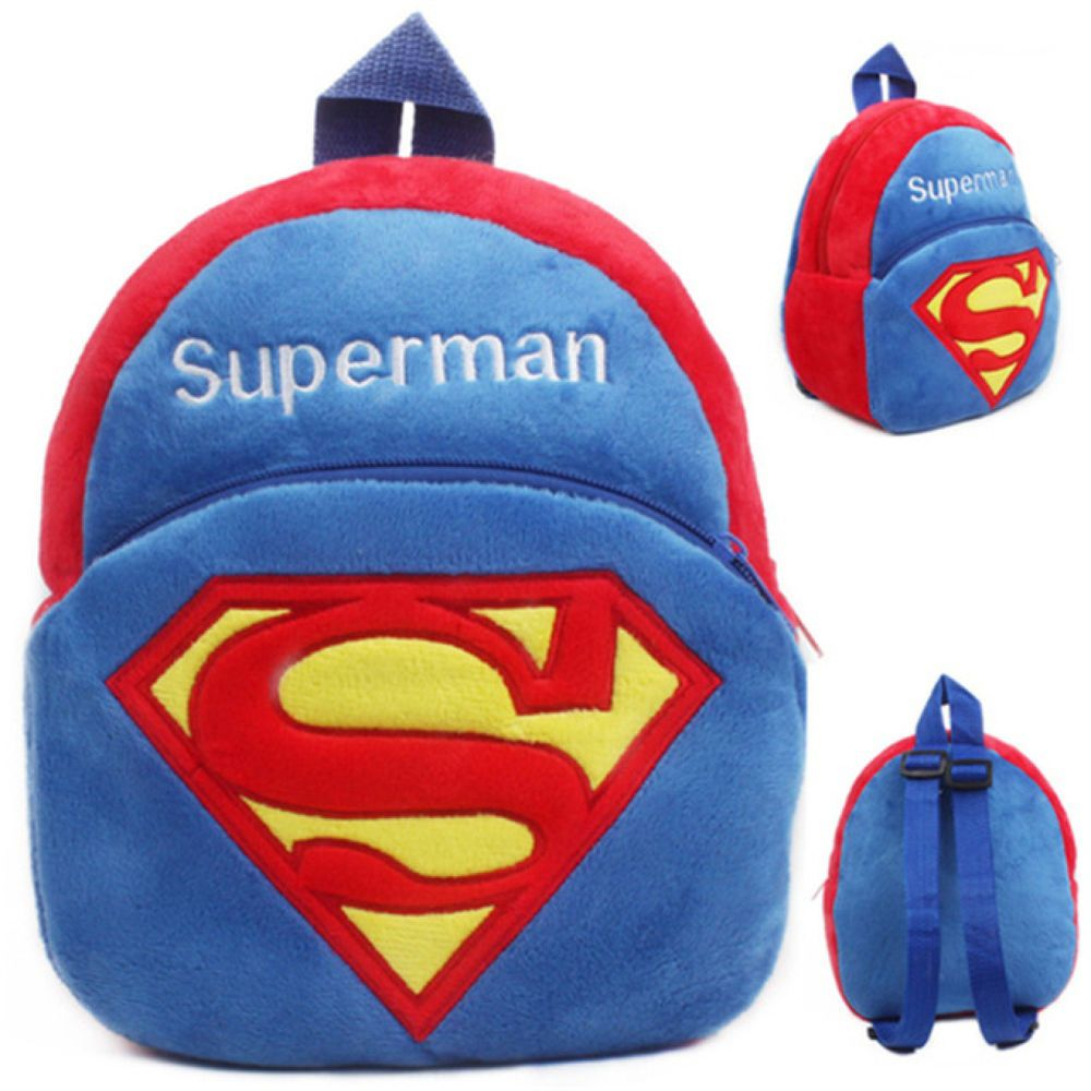 Superman Logo Kids Stuffed Plush Backpack Toy Mini School Bag Children s  Gift  Cuifuli f73eaf2ac23fb