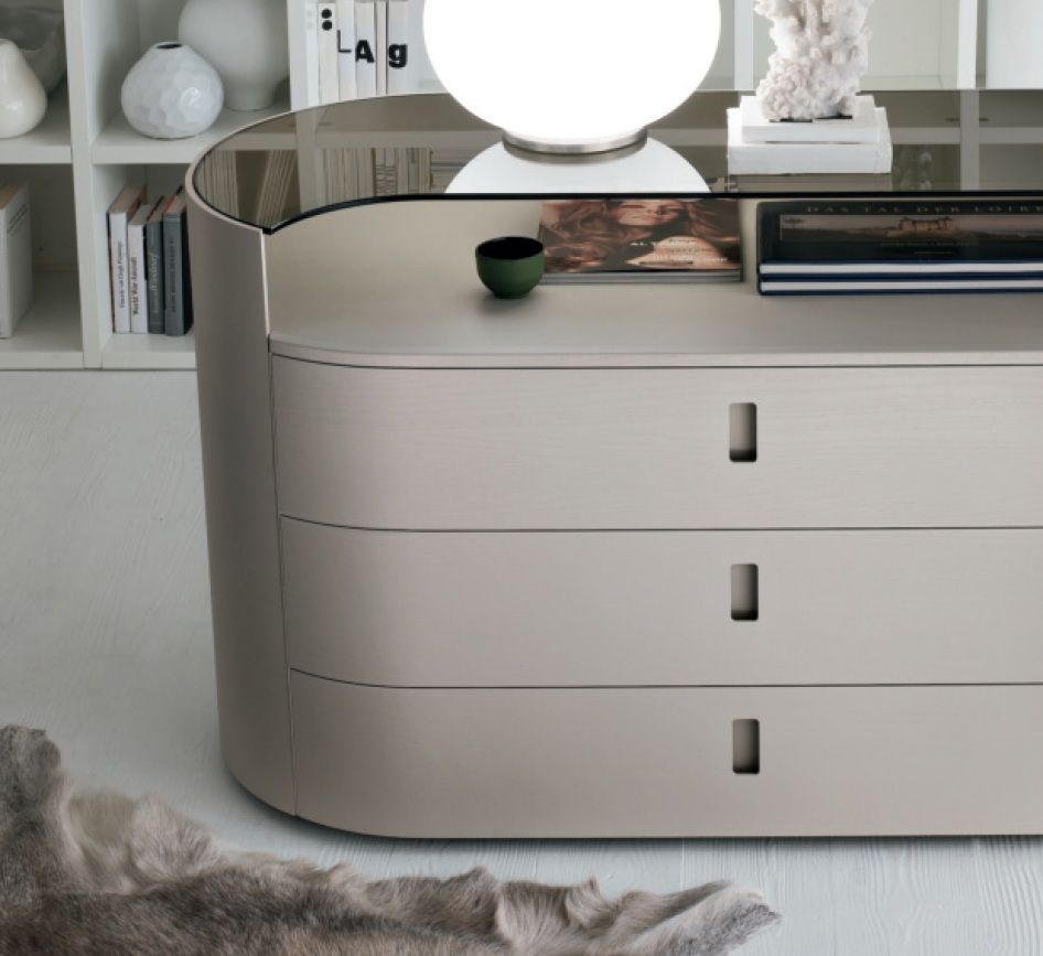 Tomasella Charme Chest Of Drawers Chest With Glass Tops - Glass tops for bedroom furniture