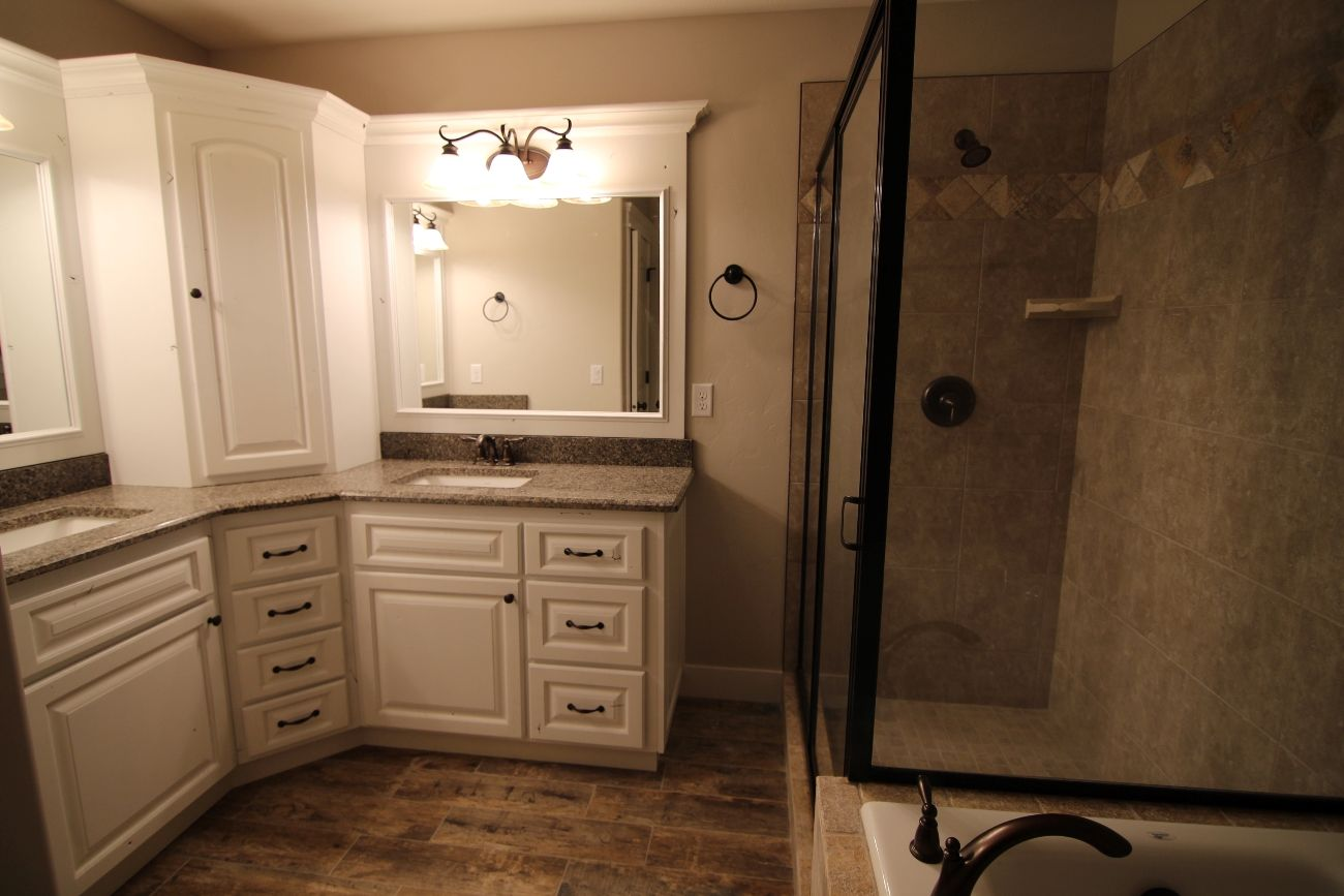 L shape master bath vanity bathroom vanities for L shaped master bathroom layout