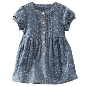 2-Piece Chambray Dress
