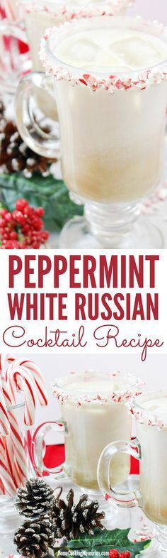 Peppermint White Russian Cocktail Recipe White russian cocktail