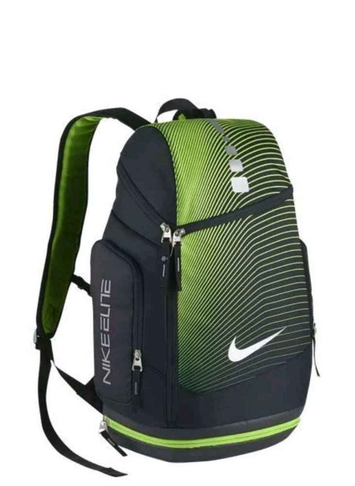 NWT Nike Hoops Elite Max Air Black Green Basketball Backpack BP Bag  BA5264-015  5e2633a14e0e7