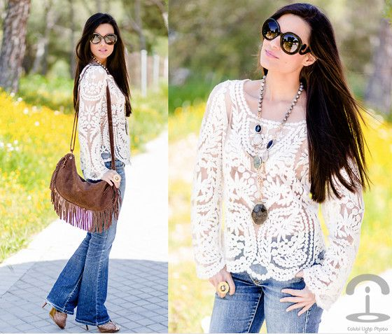 Paris Cest Cool Necklace, Chicwish Top Love -  Love her blouse so much :) <3 i want this on my closet pleaseeeee
