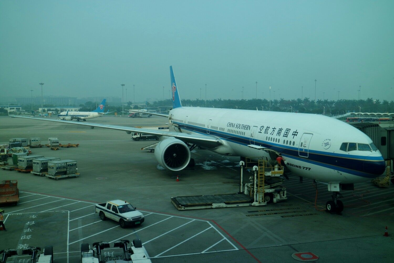 Aeroporto Guangzhou Arrive : China southern airlines b777 at guangzhou international airport