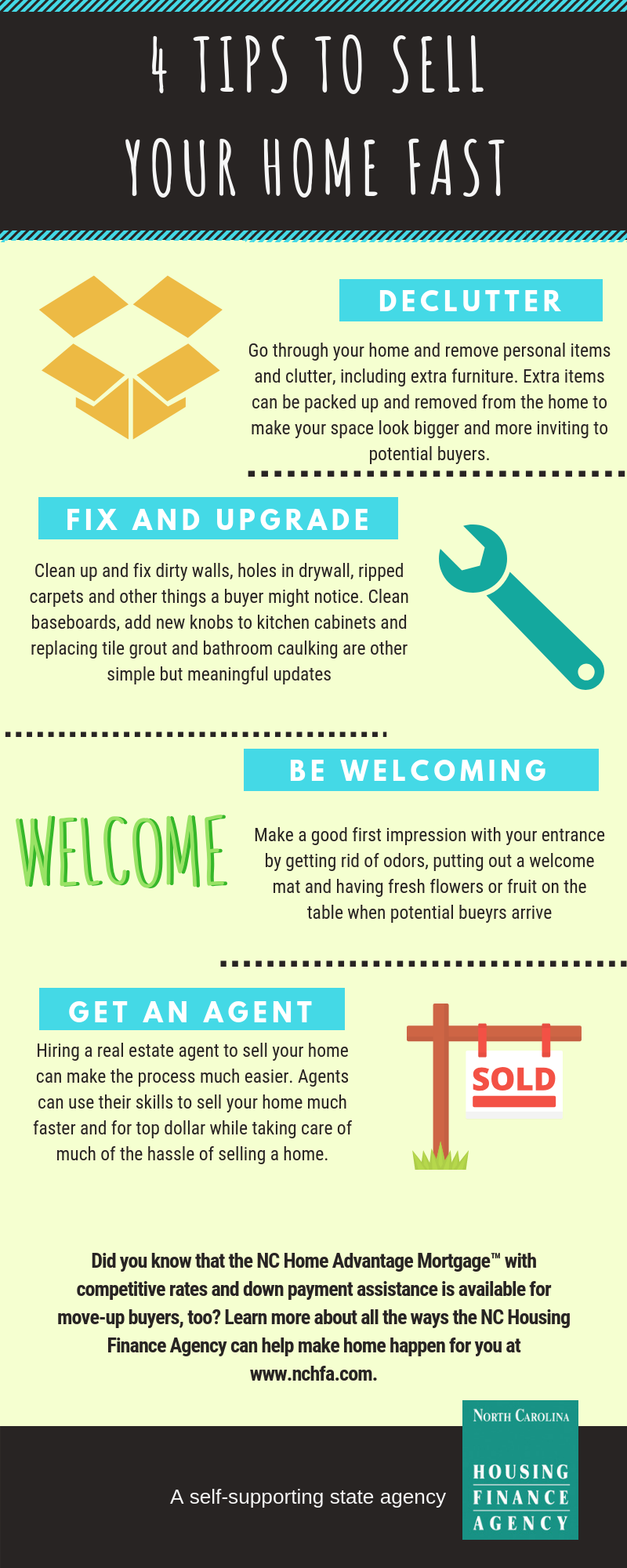 4 Tips To Sell Your Home Fast So You Can Move Up Sell Your House Fast Things To Sell Tips
