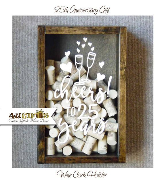 Wedding Day Gifts For Wife: Wedding Anniversary Gift, Wine Cork Holder, Wine Lovers