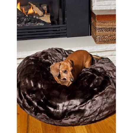 005018 Favorite Pet Products Tiger Dreamz Beddy Ball Bed Caramel Cocoa Multicolor