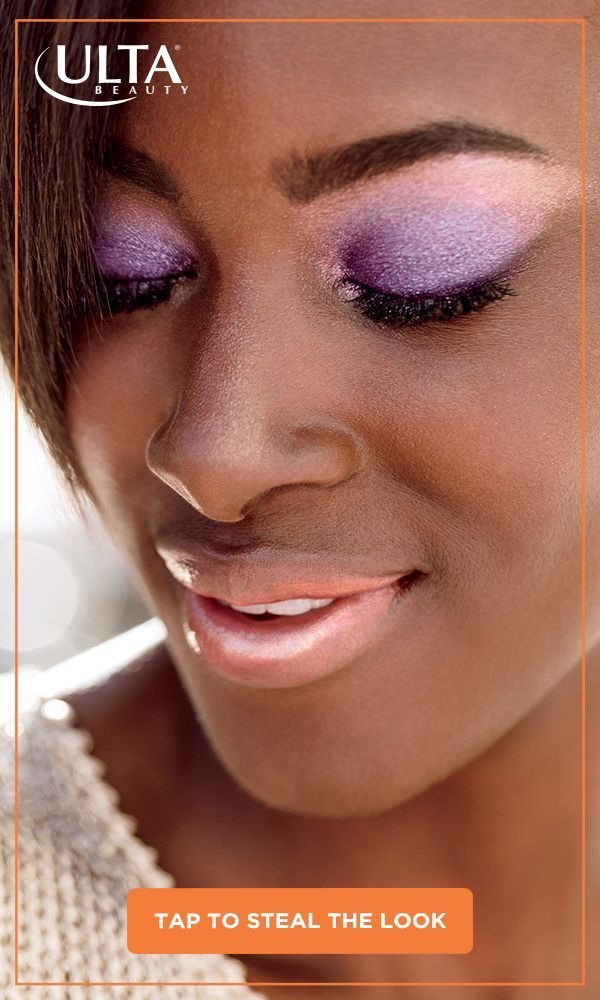 Make your spring look sparkle with luscious lavender lids and an inviting glossy lip. Soft, shimmering and oh-so-spring!