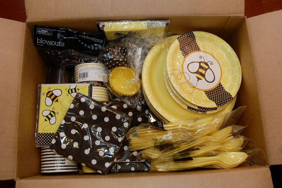 My Bumble Bee Birthday Paper Supplies Came Today From BirthdayDirect