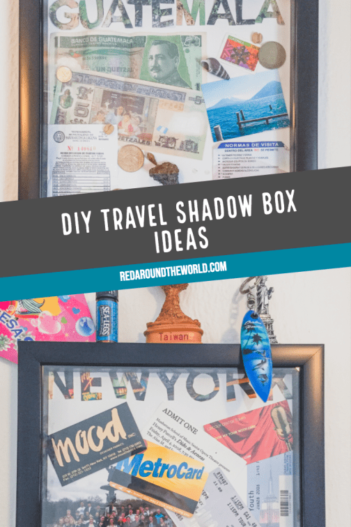 Diy Travel Shadow Box Ideas To Help Preserve Your Memories Red Around The World Travel Shadow Boxes Shadow Box Travel Diy