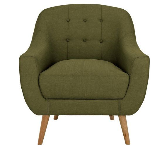 Buy Hygena Lexie Fabric Chair Olive Green At Argos Co Uk Your