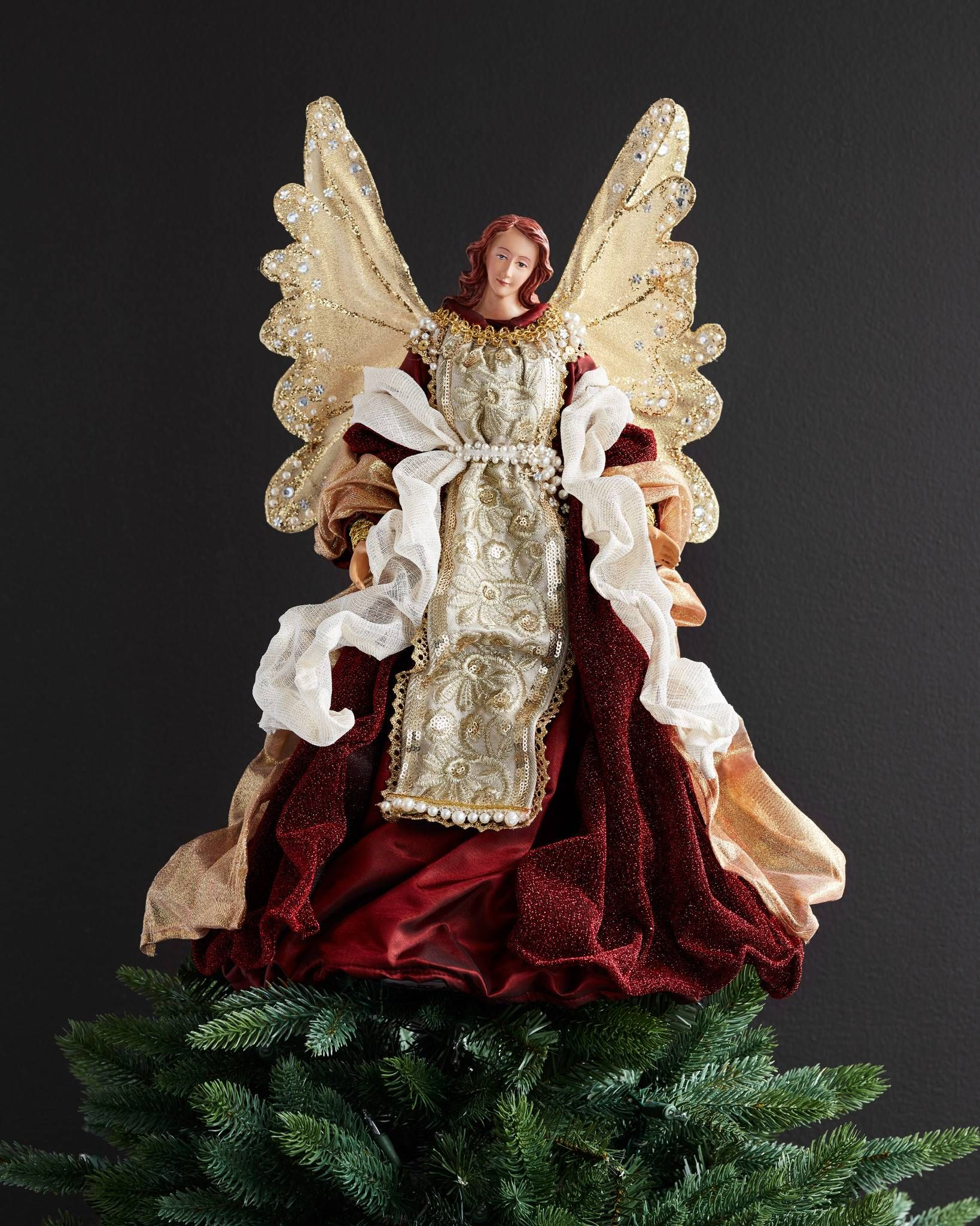 Angel Christmas Tree Topper.Holiday Grace Angel Tree Topper Holiday Decorating Ideas