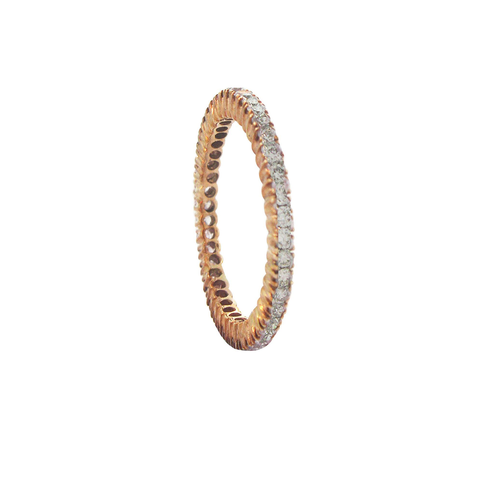 gold rose eternity band bezel set bands diamond product
