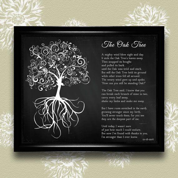 Personalized Oak Tree Poem Poem 8x10 By Eleven Eleven Pixel