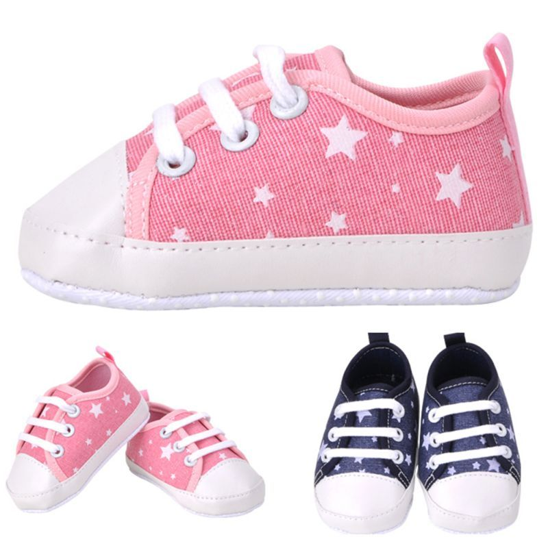 Newborn Baby Kids Canvas Soft Sole Shoes Kids Toddler Boys Girls Shoes Sneakers