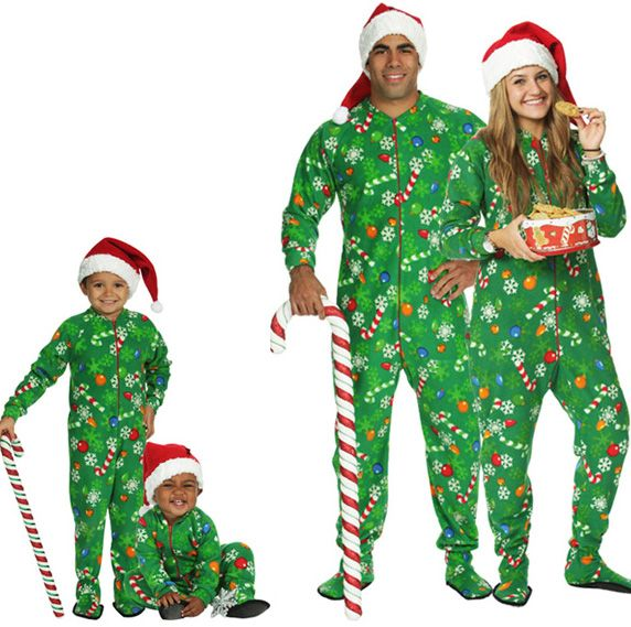 80880cb02aa1 Snug As A Bug Family Matching Snowflake Glow-in-the-Dark Footed ...