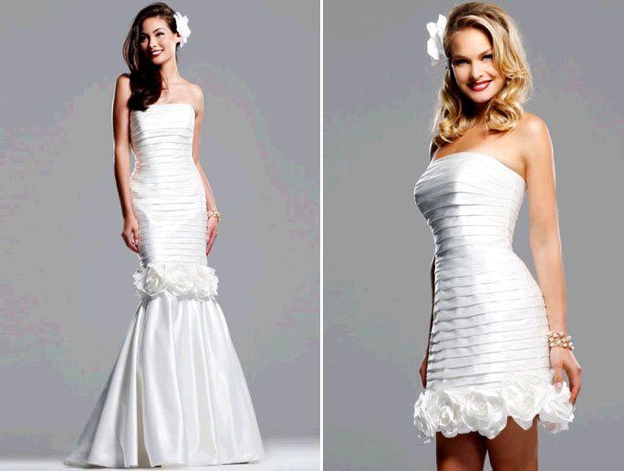 Eye On Bridal Fashion: Two-In-One Convertible Wedding