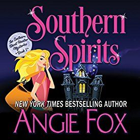 """Another must-listen from my #AudibleApp: """"Southern Spirits: Southern Ghost Hunter Mysteries, Book 1"""" by Angie Fox, narrated by Tavia Gilbert."""