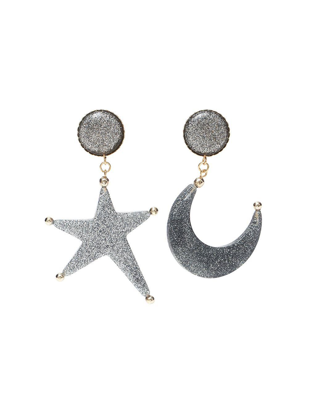 Brinco Lua Estrela Glitter Etoiles