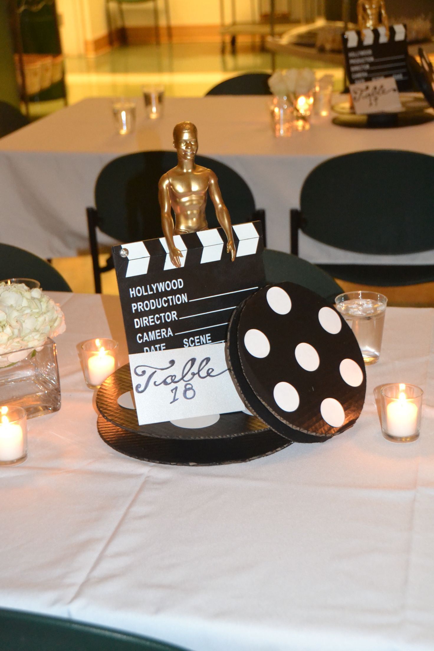 Hollywood Theme Centerpiece Old Hollywood Theme Party Pinterest Hollywood Theme