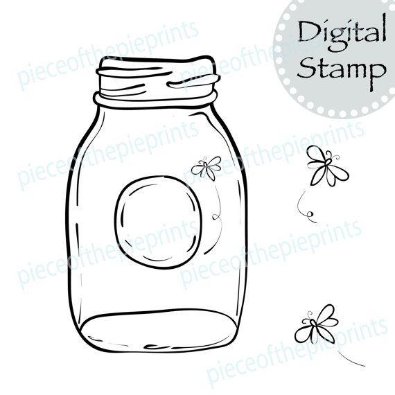 INSTANT DOWNLOAD Firefly digital stamp/clipart/scrapbook