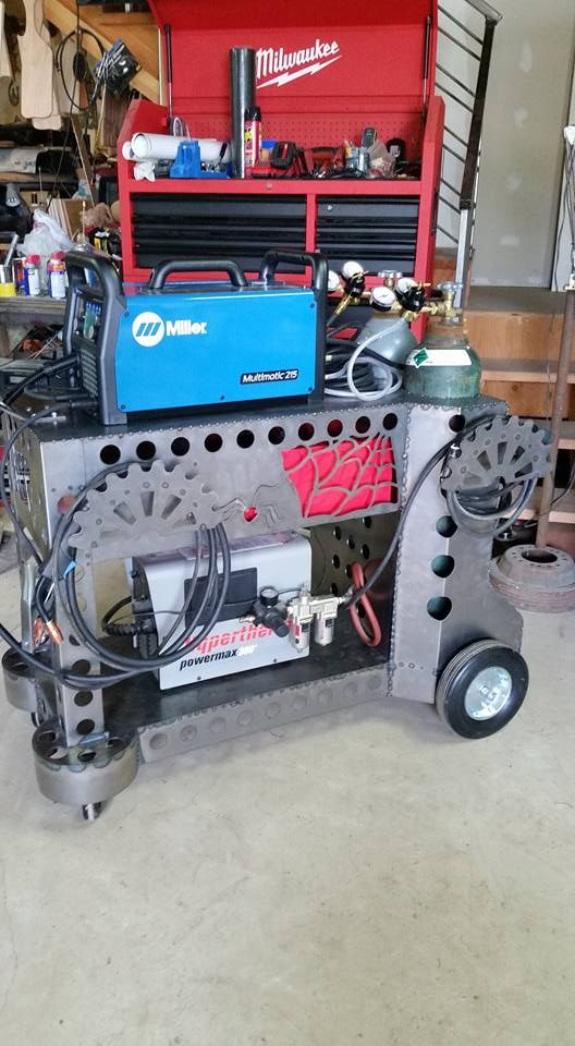 Custom welding table with welding cart built in. Pic 1