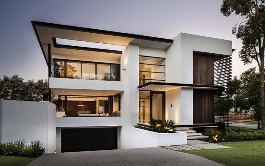 resultado de imagen para fachadas modernas tres pisos