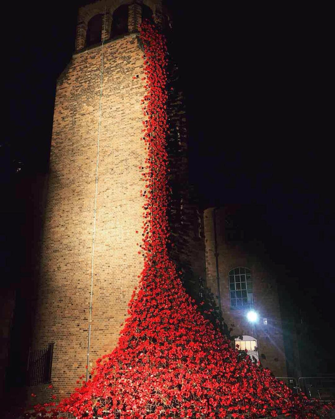The Derby Silk Mill Featuring The Dramatic Weeping Window Poppy Sculpture As Part Of The 1418now Tour The Wee Ceramic Poppies Magnificent Instagram