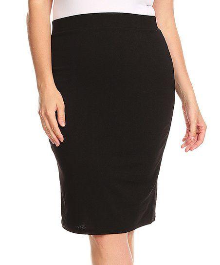 7080b3caa2 Nema Avenue Black Pencil Skirt - Plus | zulily | Zulily Finds ...