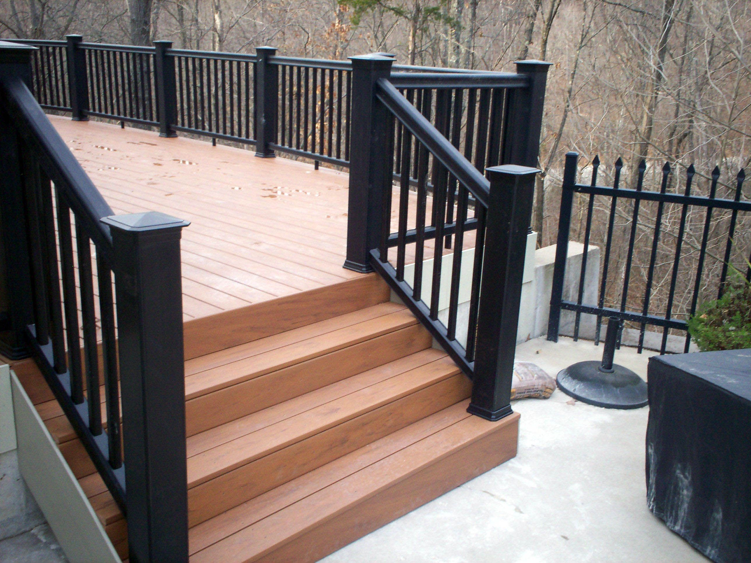 Best Great Composite Porch Railing Kits Just On Omah Home 400 x 300