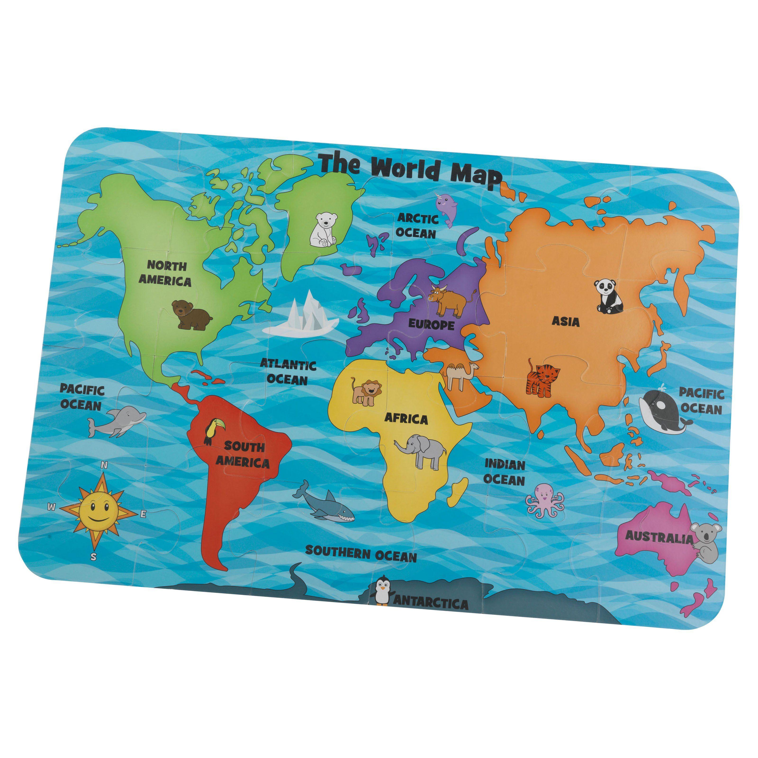 Kidkraft 24 Piece Map Of The World Floor Puzzle