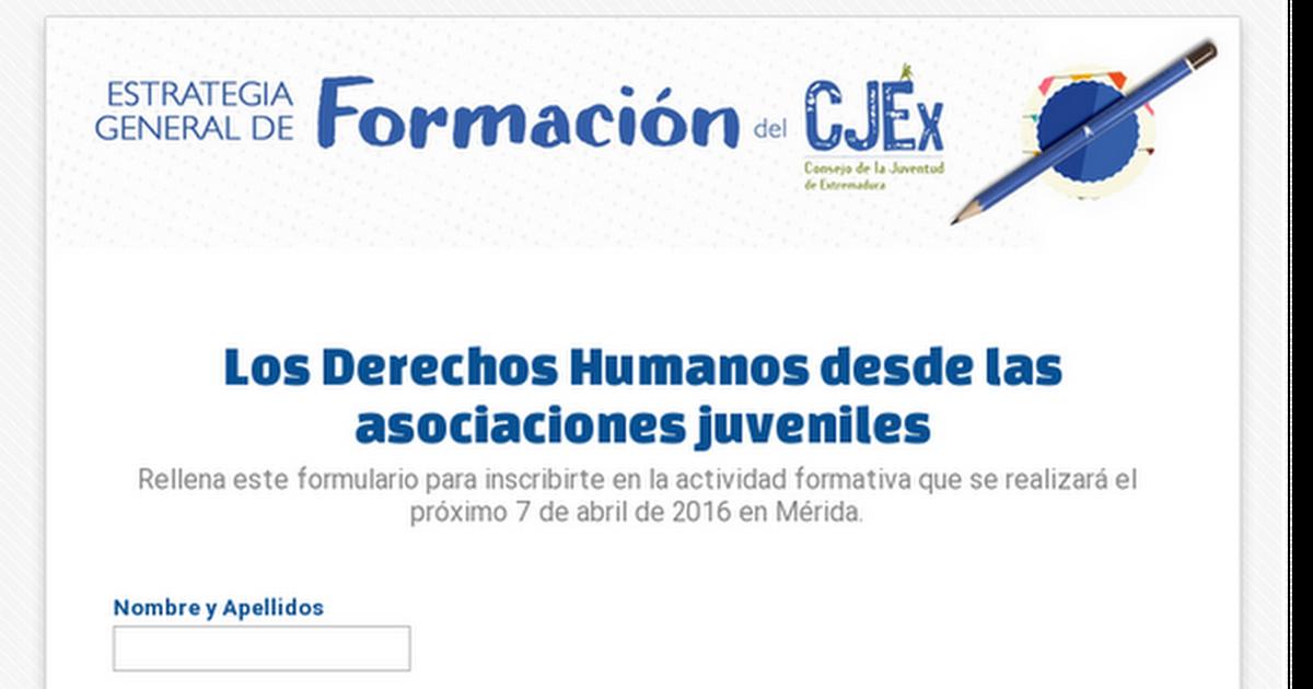 #Extremadura #Juventud #DerechosHumanos - #Curso GRATUITO en #Mérida.