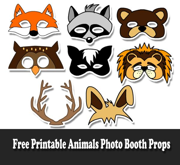 Free Printable Animals Photo Booth Props Safari Photos