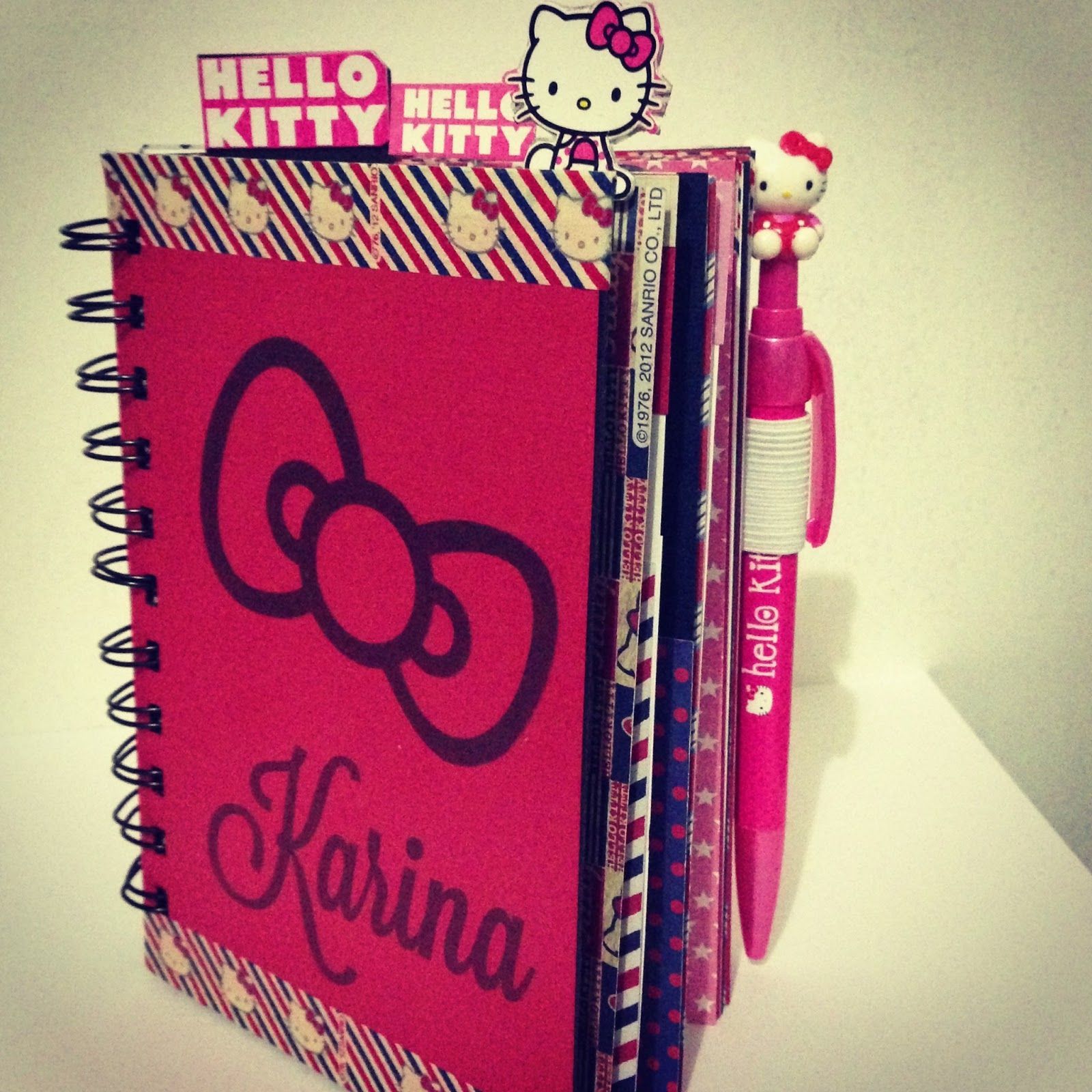 Scrapbook ideas hello kitty - Hello Kitty Scrapbook At Target Used My Bind It All And Scrapbook Paper From The