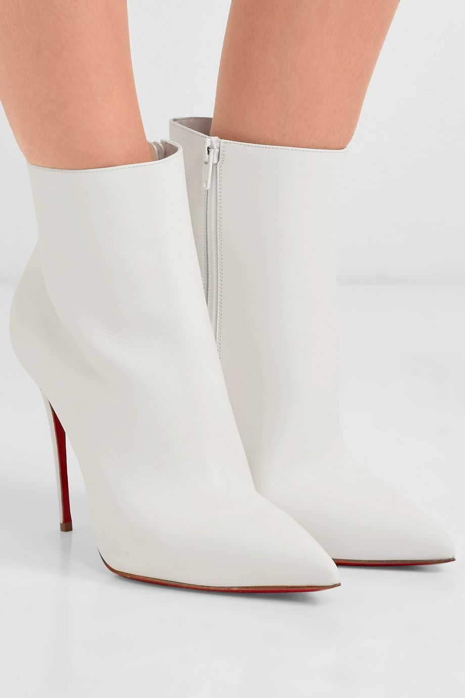 White So Kate 100 leather ankle boots