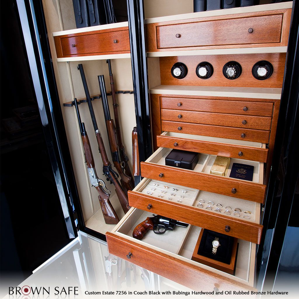 Interior Of Luxury Gun Safe Drawer Storage Inside Luxury Brown Safe Brown  Safe Makes This Large Double Doored Safe Called The Custom Estate It