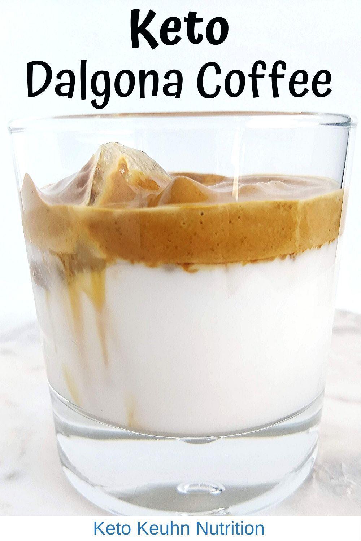 Keto Dalgona Coffee Recipe in 2020 Dalgona coffee