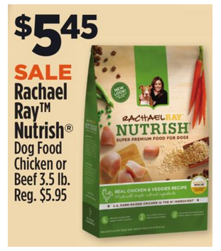 Rachael Ray Nutrish Dog Food 3 5lb For 2 95 At The Dollar General